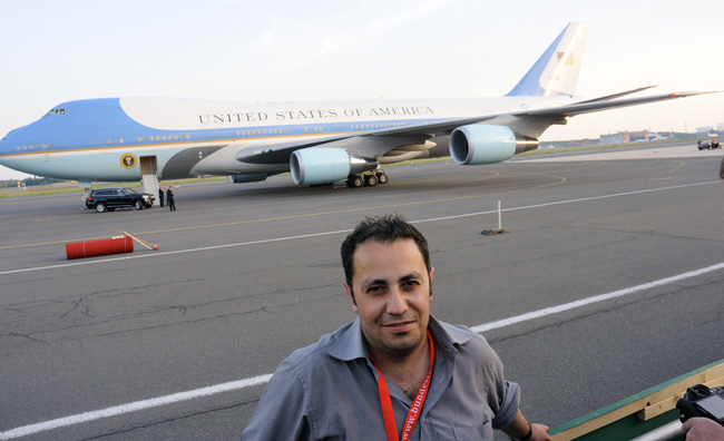 Emilio Esbardo, Photographer at Obama's Berlin visit