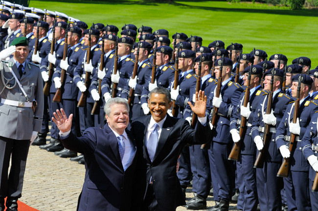 Barack Obama and Joachim Gauck, The President of Germany - © Emilio Esbardo